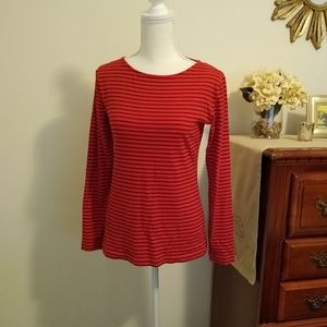 Size S J. Crew Artist red and black shirt